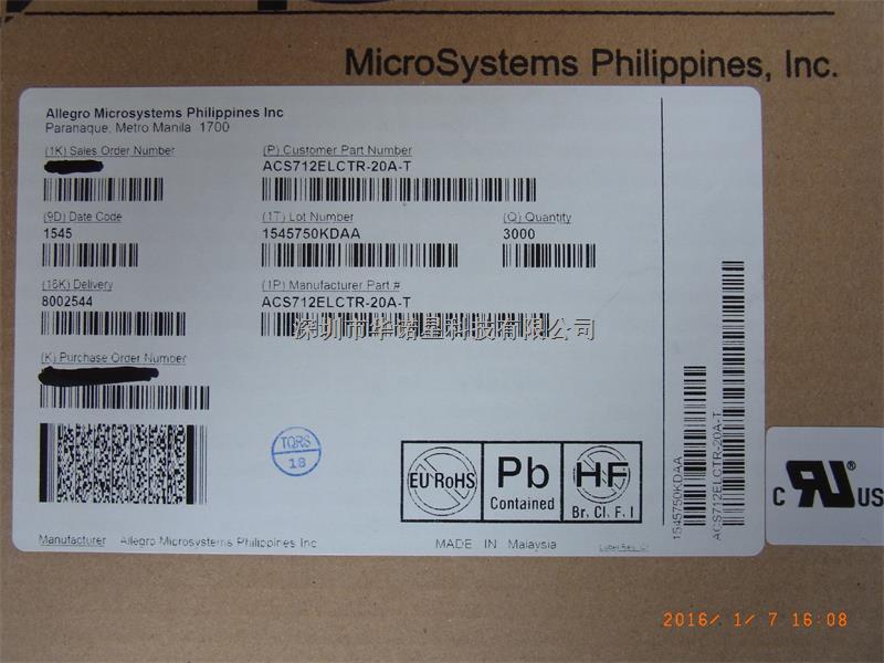 ACS712ELCTR-20A-T制暖 电源-ACS712ELCTR-20A-T尽在买卖IC网