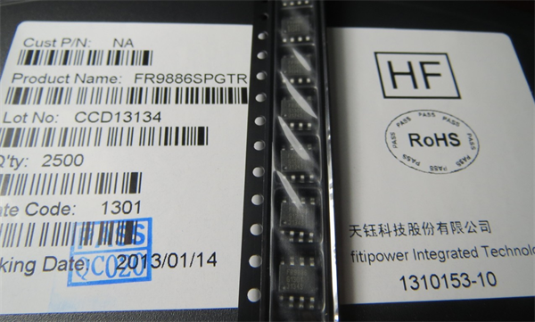 FR9808SPGTR 4A天钰DC/DC电源芯片替代MP9708 专业代理台湾天钰电源管理IC,Fitipower电源管理IC一级代理商,天钰DC/DC 电源芯片 FR9886、FR9888、FR9806、FR9808适用: 全系列产品可应用在23V输入电压条件 输入/输出电容搭配限制小,适合各种电容材料 全系列内部补偿,节省周边被动元器件二至三颗 可依客户需要改版未外部补偿,或支持Power Ready讯号输出 使用与前一代相同的脚位布置,不需重新设计PCB FR9886SOGTR 2A SOP-8封