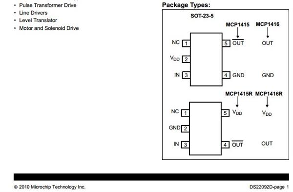 供应信息 电子元器件 集成电路 > 音响ic  型号 mcp1415t-e/ot 厂家