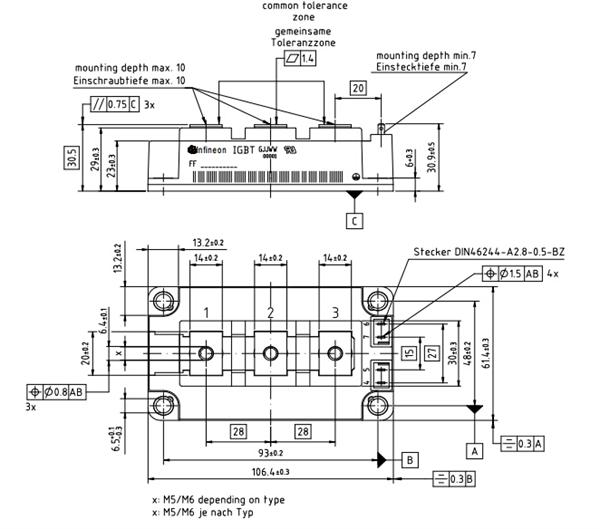 ff200r12ks4封装规格尺寸