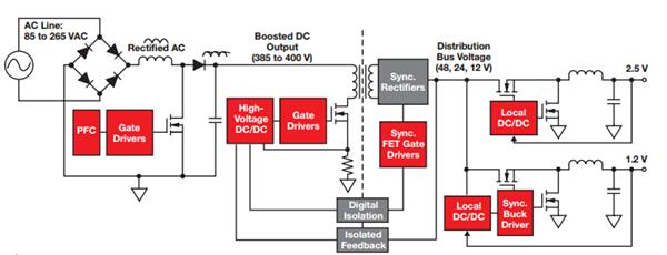全自动稳压器控制电路原理图