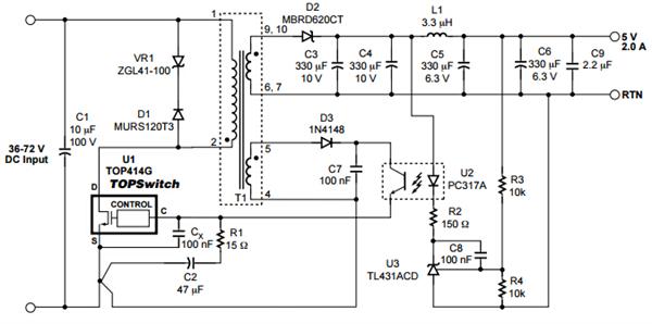 自锁功能限流电路