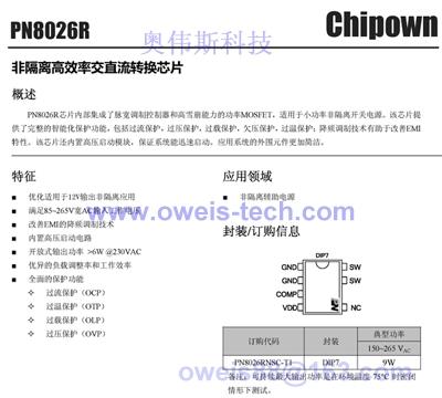 芯朋微ac/dc系列: ap8012
