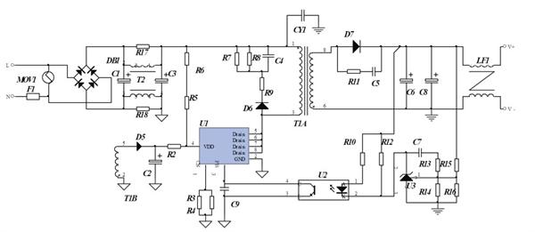 5v 12a 电源充电器和适配器的方案及样机测试 型号cr5254 启达代理